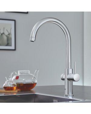 Grohe Red die NEUE Küchenarmatur mit Filterfunktion für kochend heißes Wasser, C-Auslauf chrom
