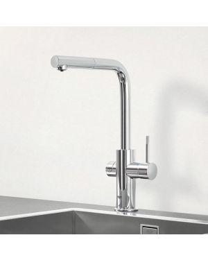 Grohe Blue Professional die NEUE Küchenarmatur mit Filterfunktion, L-Auslauf ausziehbar chrom